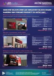 Akční nabídka LED obrazovek 1/2014